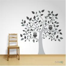 Lipdukas - Medis su pelėdomis