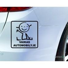 Lipdukas - Vaikas automobilyje 2