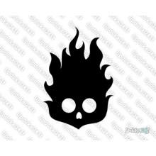Lipdukas - Kaukolė deganti 24
