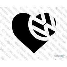 Lipdukas - Heart VW