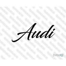 Lipdukas - Audi užrašas 1