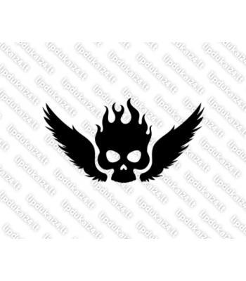 Kaukolė deganti su sparnais 7