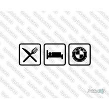 Lipdukas - Eat sleep BMW