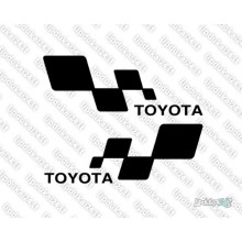 Lipdukas - Toyota racing 2 vnt.