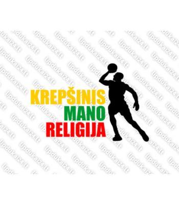 Krepšinis mano religija 3 (trispalvė)