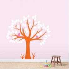 Lipdukas - Du paukšteliai medyje