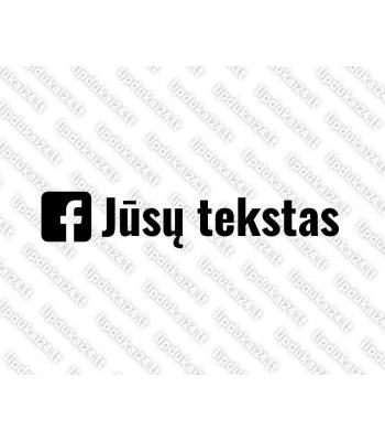 Jūsų teksto Facebook lipdukas