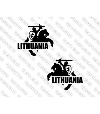 Lithuania - Vytis (siluetas su skydu) komplektas 2 vnt.