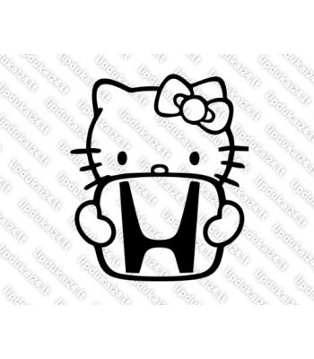 Hello Kitty with honda logo