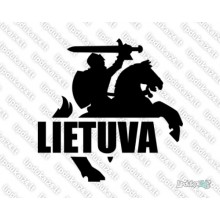 Lipdukas - Lietuva - Vytis (siluetas, dešinė)