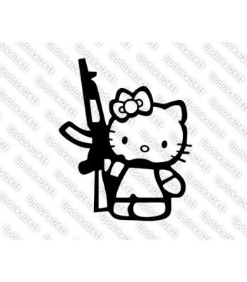 Hello Kitty with gun