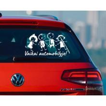 Lipdukas - Vaikai automobilyje 5