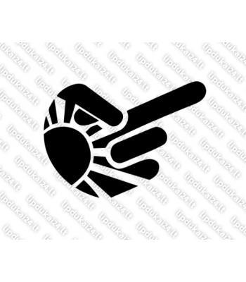 Hand 1 finger Rising Sun