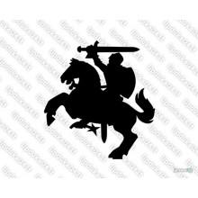 Lipdukas - Vytis (siluetas)