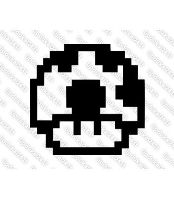 Mario mushroom pixel