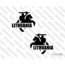 Lipdukas - Lithuania - Vytis (siluetas) komplektas 2 vnt.