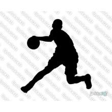 Lipdukas - Krepšininkas varosi kamuolį