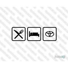 Lipdukas - Eat sleep Toyota