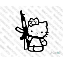 Lipdukas - Hello Kitty with gun