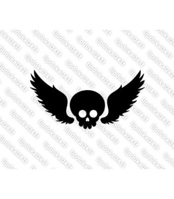 Kaukolė su sparnais 10