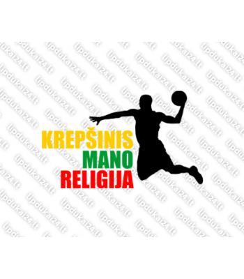 Krepšinis mano religija (trispalvė)