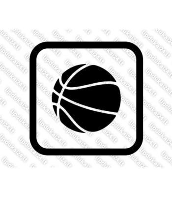 Krepšinio kamuolys rėmelyje
