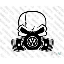 Lipdukas - VW skull with gass mask
