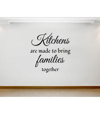 Kitchens are made to...