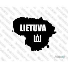 Lipdukas - Lietuvos siluetas - Lietuva