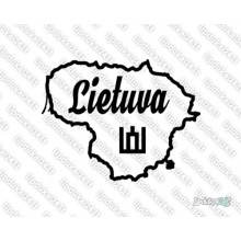 Lipdukas - Lietuvos kontūras - Lietuva