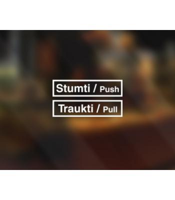 Stumti - traukti komplektas