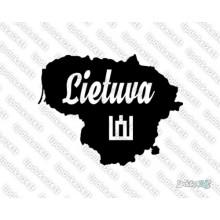 Lipdukas - Lietuvos siluetas - Lietuva 2