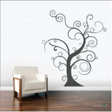 Lipdukas - Raitytas medis be lapų