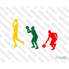 Lipdukas - Krepšininkai (trispalvė)
