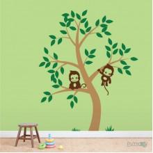 Lipdukas - Dvi bezdžionėlės medyje