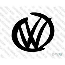Lipdukas - VW logo hand draw