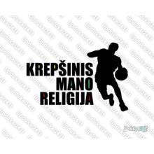 Lipdukas - Krepšinis mano religija 2 sp