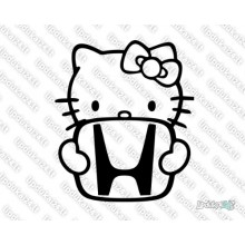 Lipdukas - Hello Kitty with honda logo