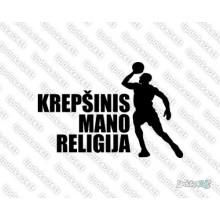 Lipdukas - Krepšinis mano religija 3 jb