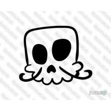 Lipdukas - Kaukolė animacinė 30