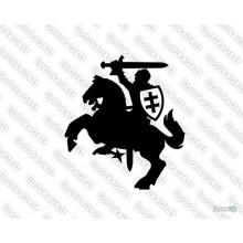 Lipdukas - Vytis (siluetas su skydu)