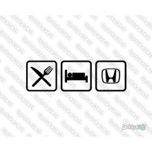 Lipdukas - Eat sleep Honda