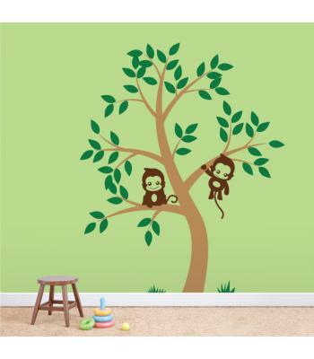 Dvi bezdžionėlės medyje