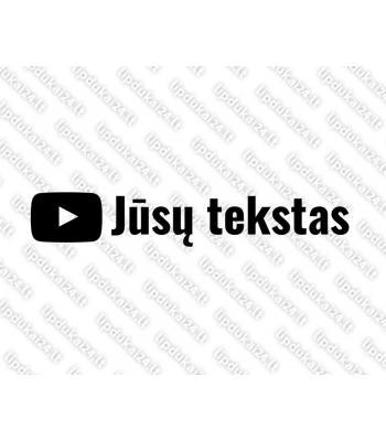 Jūsų teksto Youtube lipdukas